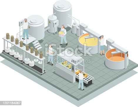 istock cheese production factory isometric composition 1201184067
