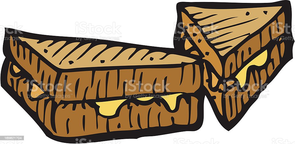 Cheese Sandwich royalty-free cheese sandwich stock vector art & more images of bread