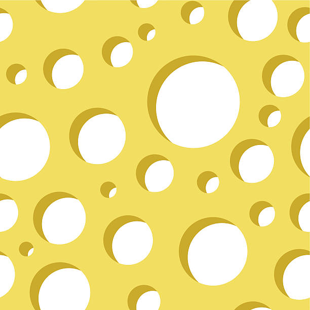 Cheese seamless pattern vector art illustration