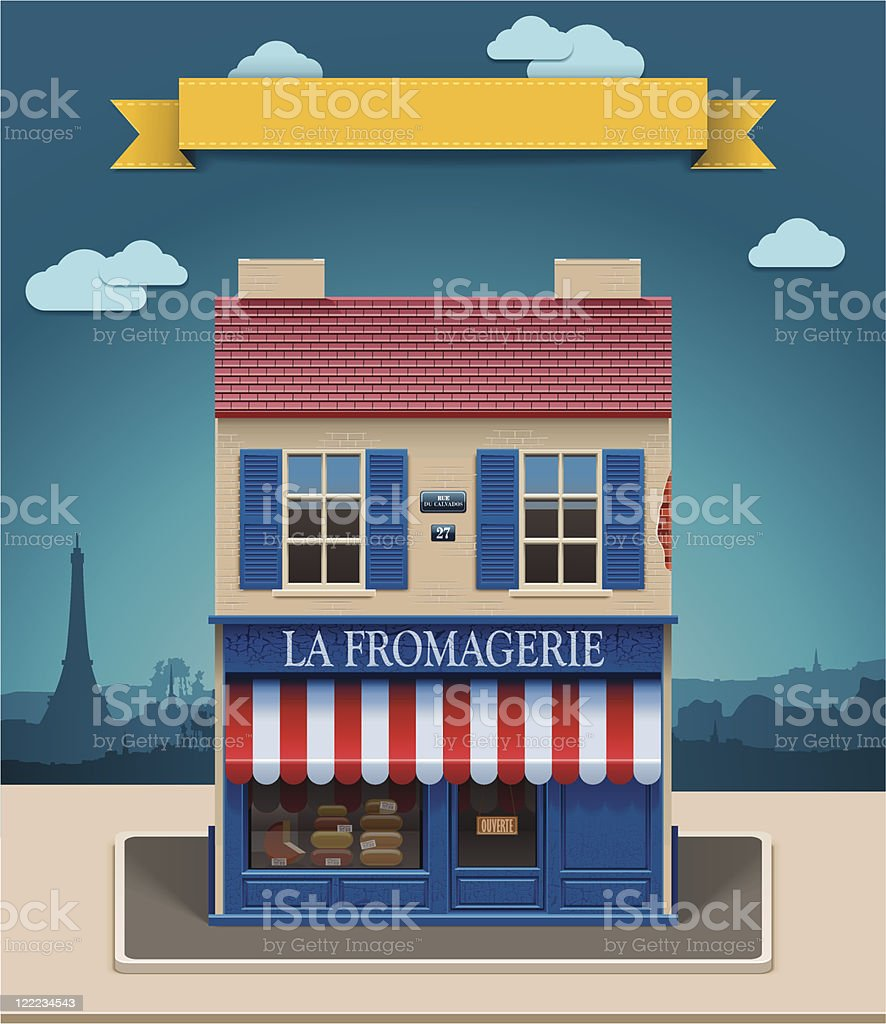 Cheese shop XXL icon royalty-free cheese shop xxl icon stock vector art & more images of architecture