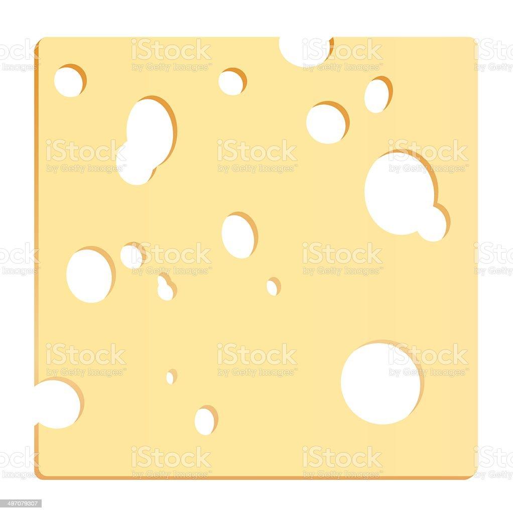 Cheese Slice Square vector art illustration