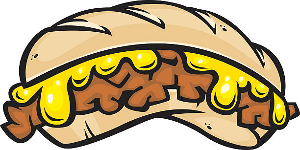 cheese steak sandwich - sub sandwich stock illustrations, clip art, cartoons, & icons