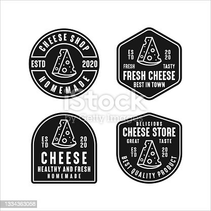 istock Cheese store design logo collection 1334363058
