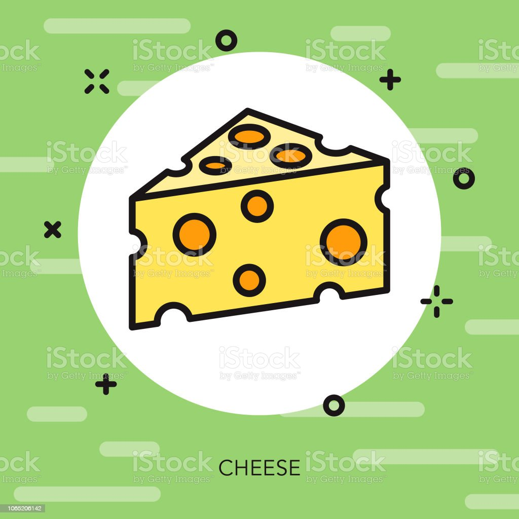 Cheese Thin Line Italy Icon vector art illustration