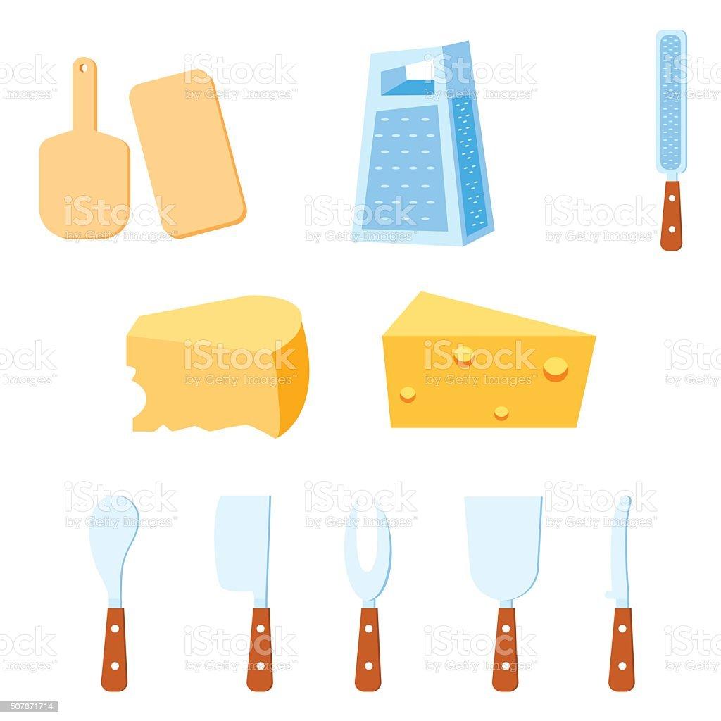 Cheese Tools vector illustration vector art illustration