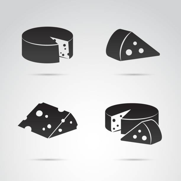 ilustrações de stock, clip art, desenhos animados e ícones de cheese vector icon set. - queijo