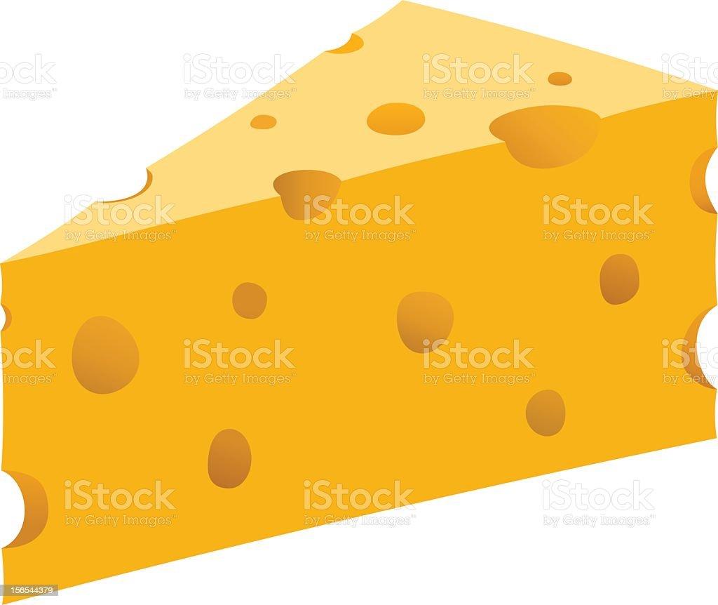 Cheese vector art illustration