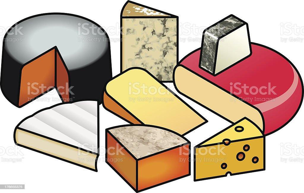 Queso ilustración de queso y más banco de imágenes de alimentos ahumados libre de derechos