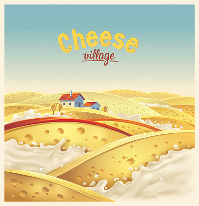 Cheese Village Stock Illustration - Download Image Now