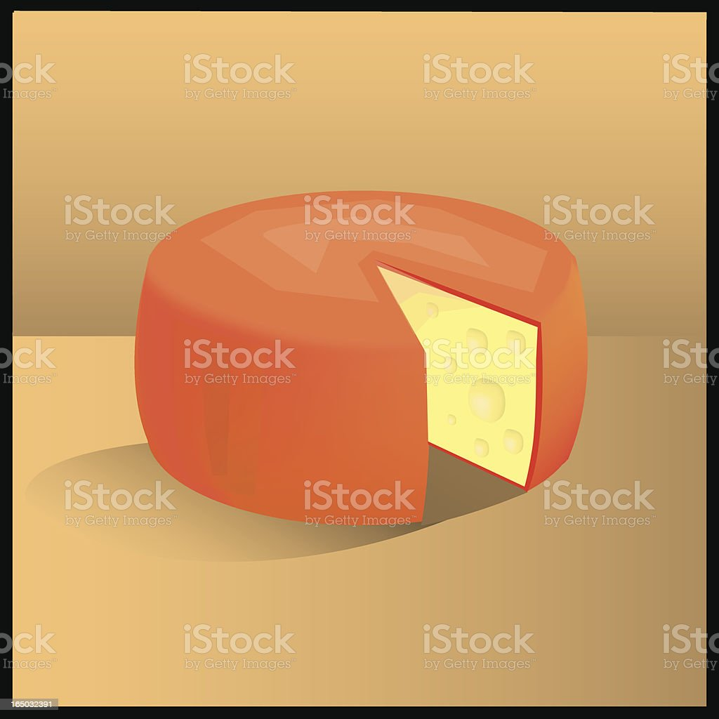 Cheese Wheel royalty-free stock vector art