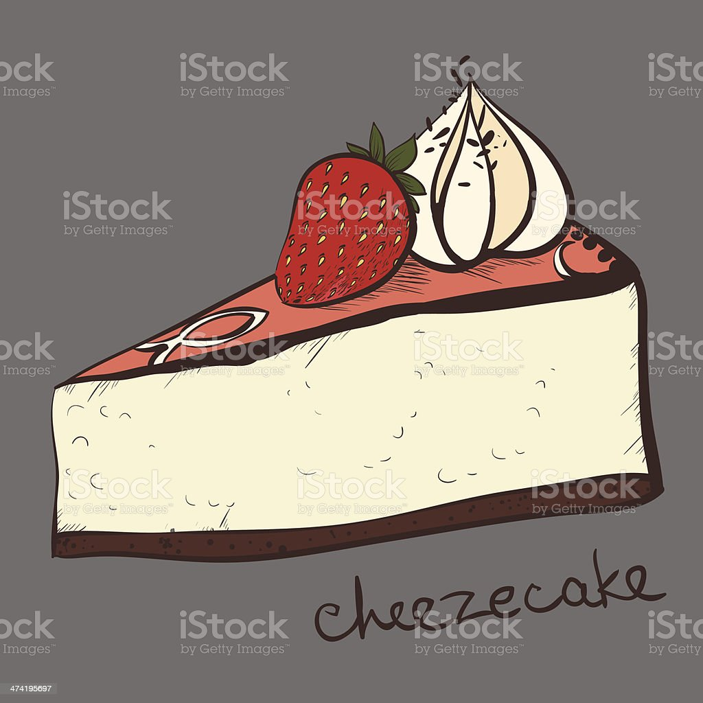 cheesecake portion, piece royalty-free stock vector art