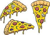 Cheesy Comic Pizza Slices