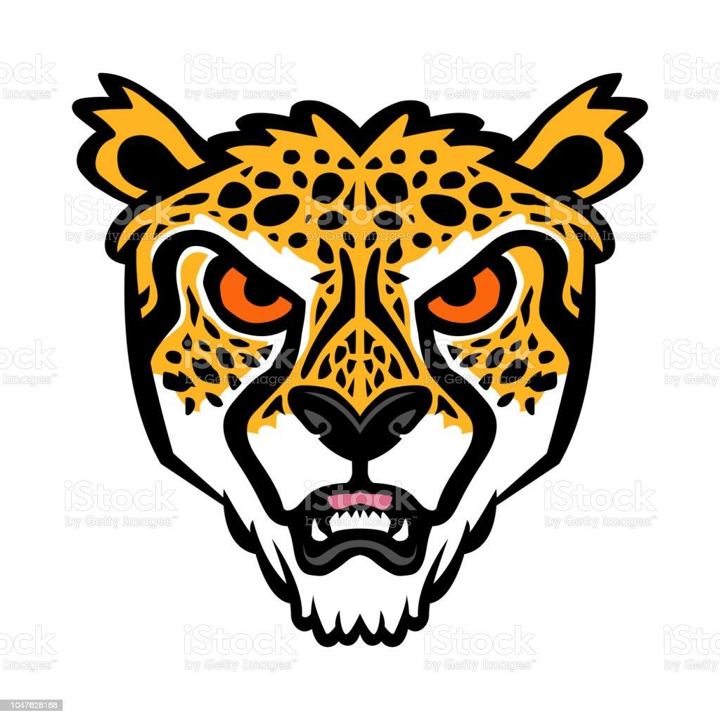 Cheetah big cat vector illustration