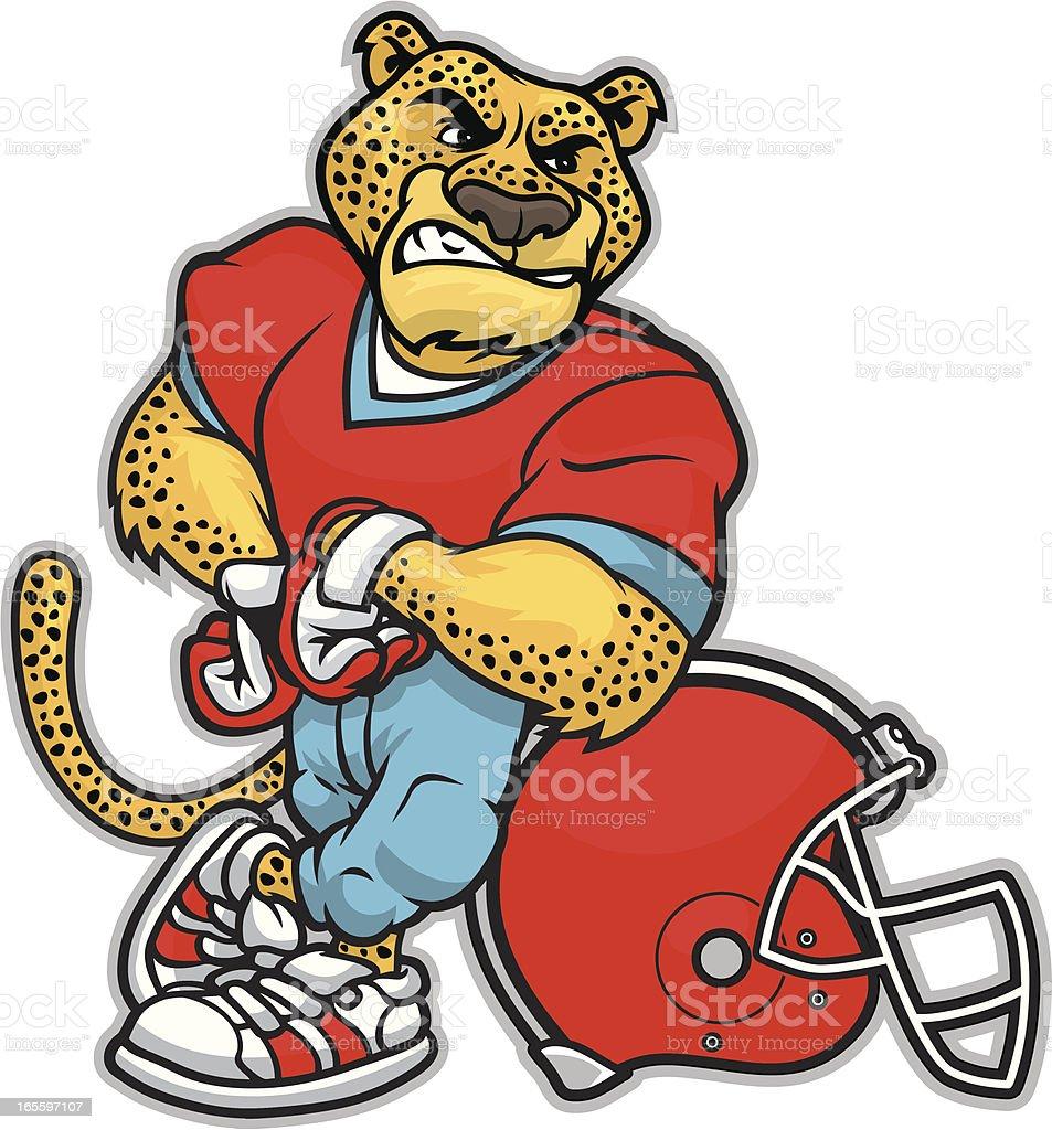Cheetah Football vector art illustration