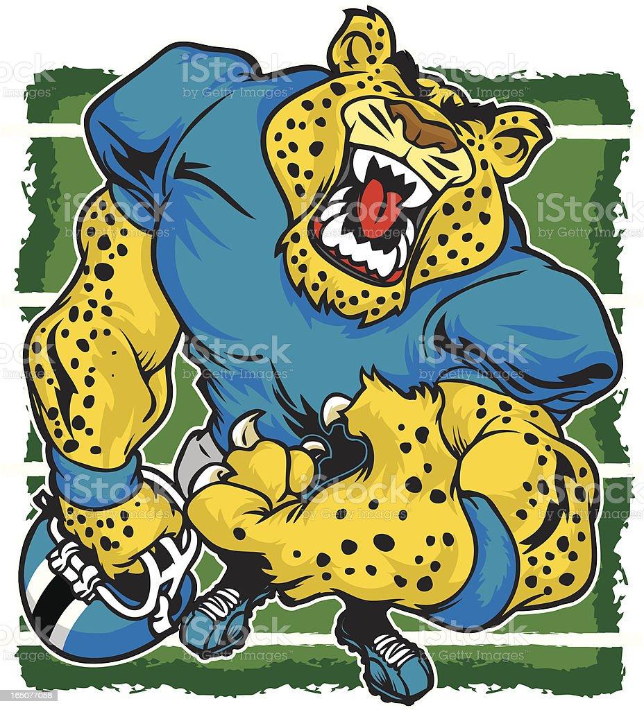 Cheetah Growl vector art illustration