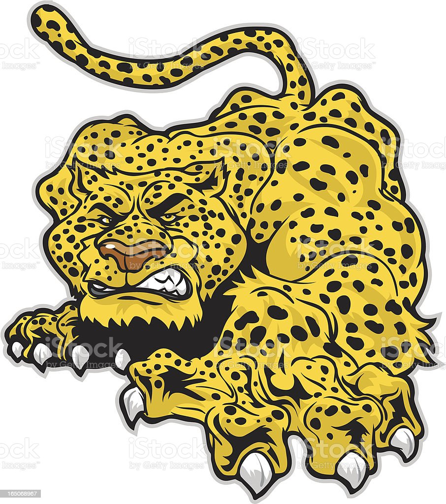 Cheetah Jaguar royalty-free stock vector art