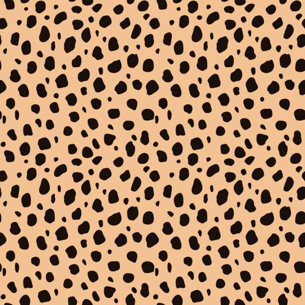 stockillustraties, clipart, cartoons en iconen met cheetah print naadloze patroon - jachtluipaard