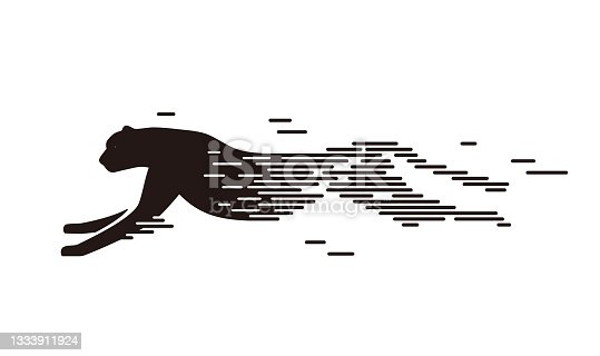 istock Cheetah running,  speed concept, vector illustration 1333911924