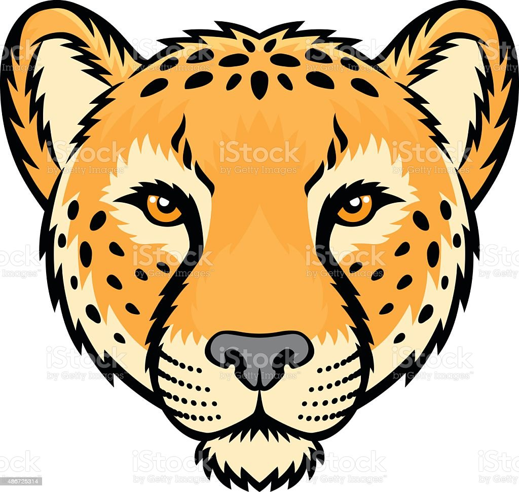 royalty free cheetah head happy clip art vector images rh istockphoto com cheetah clip art images cheetah clipart pictures