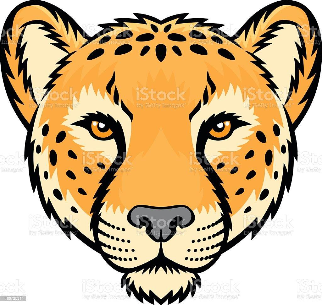royalty free cheetah head happy clip art vector images rh istockphoto com cheetah clipart easy cheetah clipart png