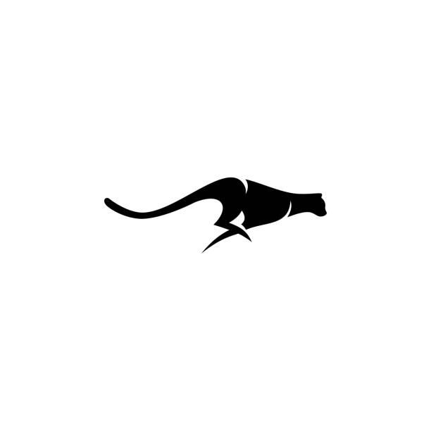 stockillustraties, clipart, cartoons en iconen met cheetah vector illustratie - jachtluipaard