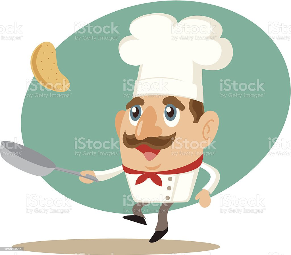 Chef and Frying Pan royalty-free chef and frying pan stock vector art & more images of adult