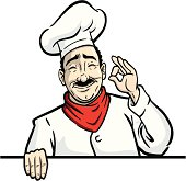 Great illustration of a classic chef approving. Perfect for a restaurant ad or a menu. EPS and JPEG files included. Be sure to view my other illustrations, thanks!