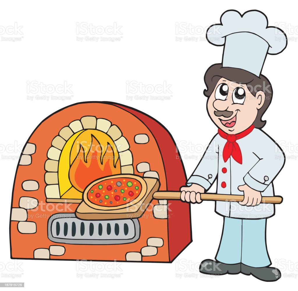 Chef baking pizza royalty-free chef baking pizza stock vector art & more images of adult
