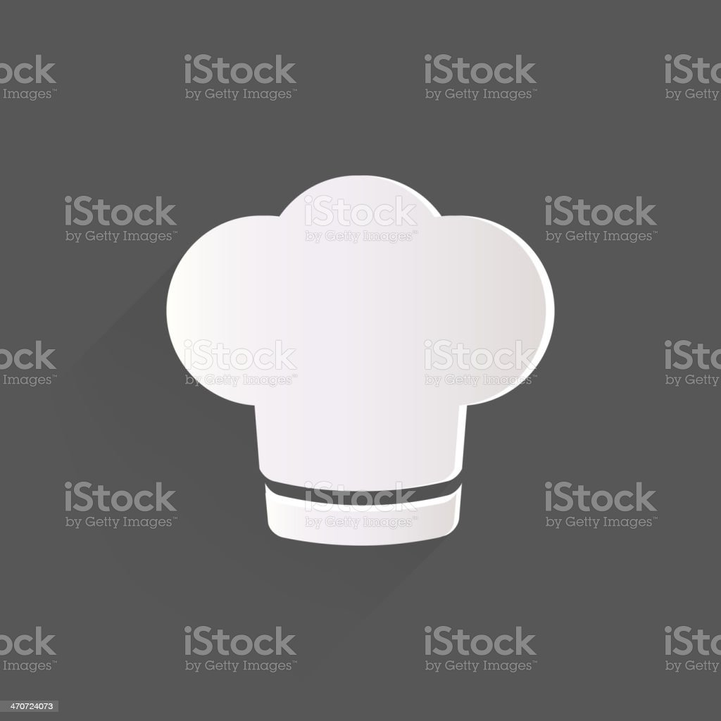 Chef cap icon. Cooking hat vector art illustration