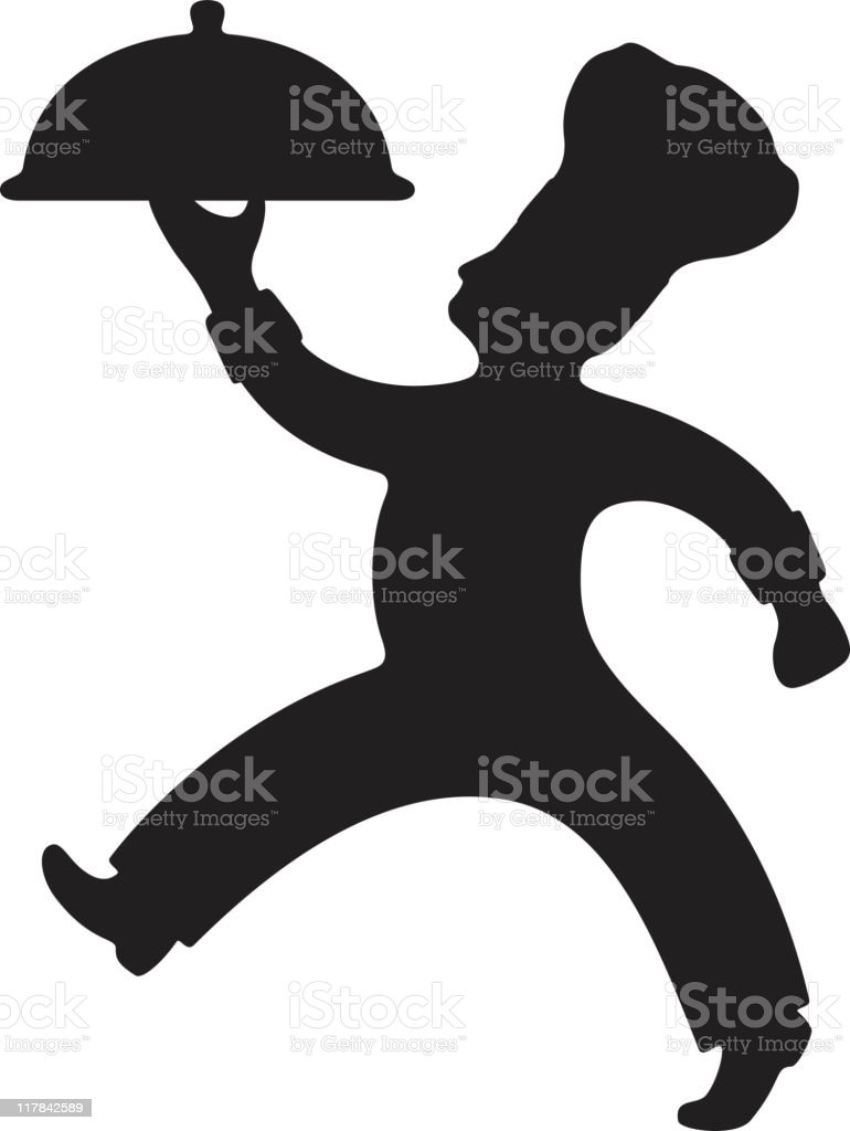 Chef Carrying Platter royalty-free stock vector art