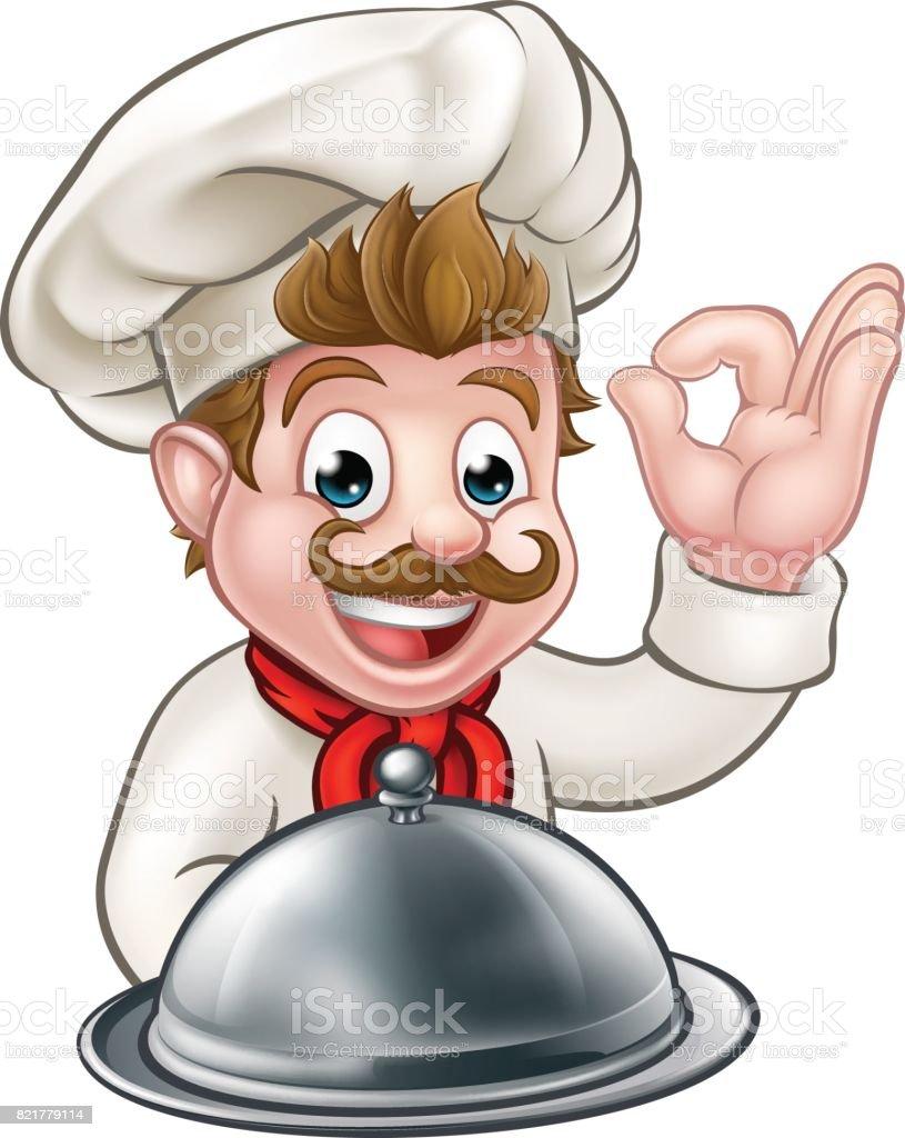 Chef Cuisinier De Dessin Animé