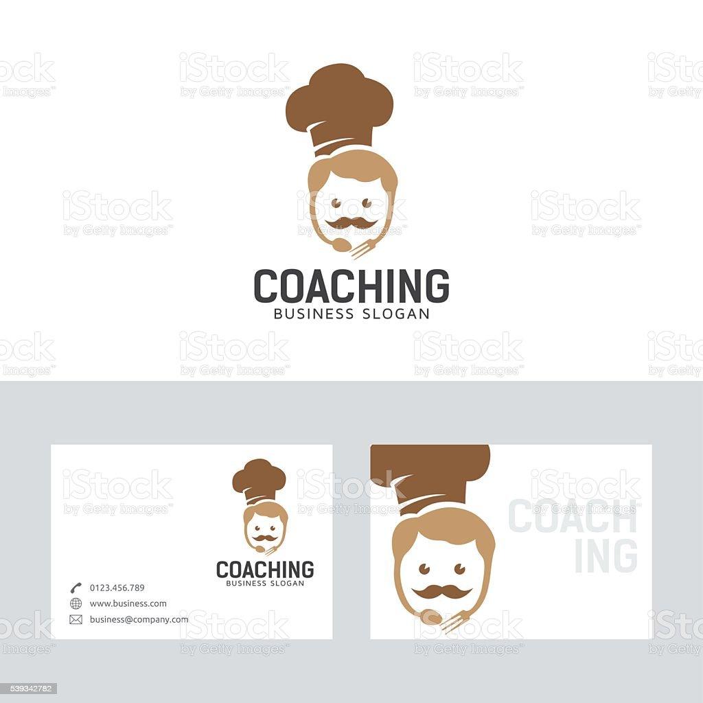 Coaching De Chef Logo Vectoriel Avec Modle Carte Visite