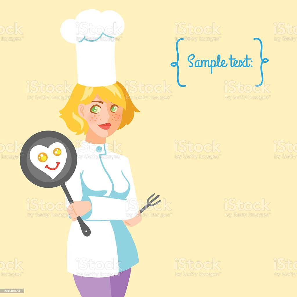 Chef cook girl royalty-free chef cook girl stock vector art & more images of 2015