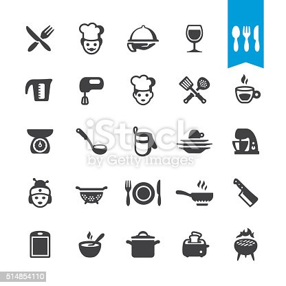 Chef Cooking and Restaurant related icons BASE pack #51