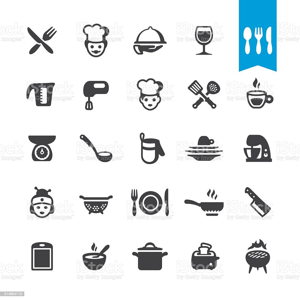 Chef Cooking vector icons vector art illustration