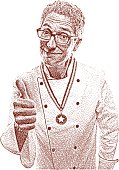 Chef Giving Thumbs Up Gesture