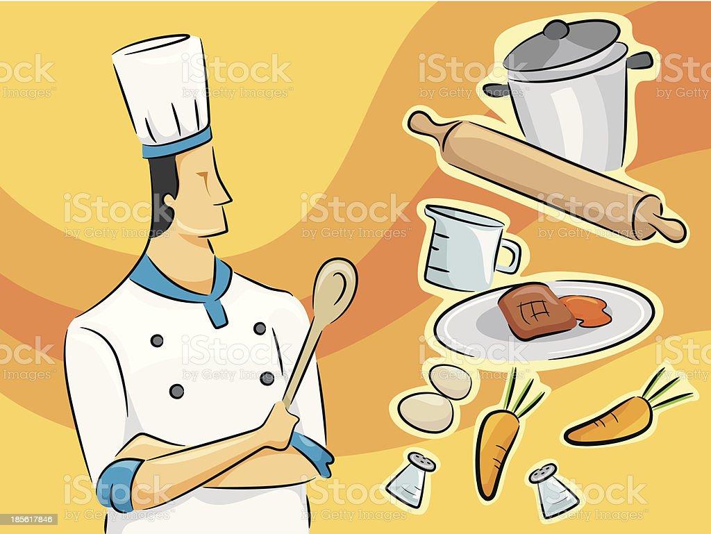 Chef Guy royalty-free stock vector art