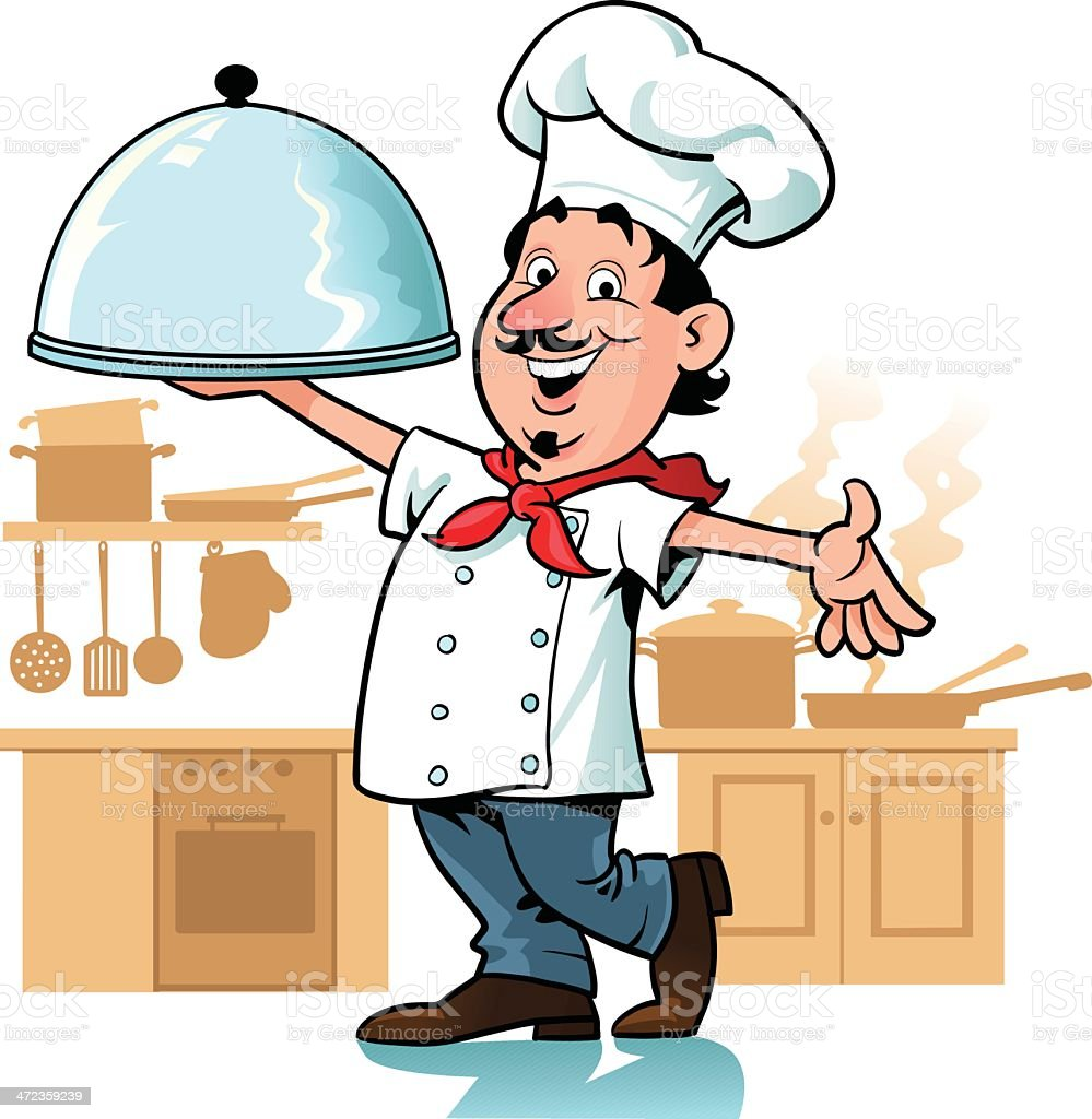Chef Happy With His Cooking royalty-free chef happy with his cooking stock vector art & more images of adult