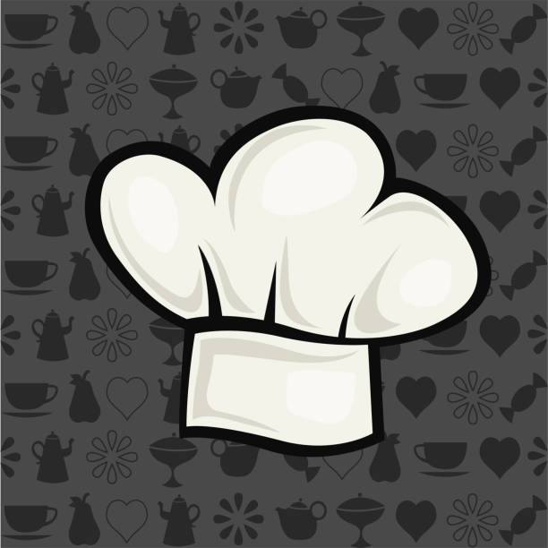 chef has chef hat vector illustration in cartoon style chef's hat stock illustrations