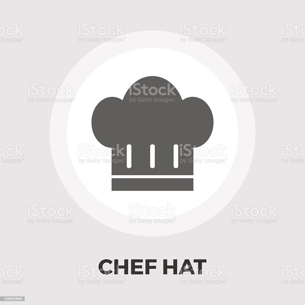Chef hat flat icon vector art illustration