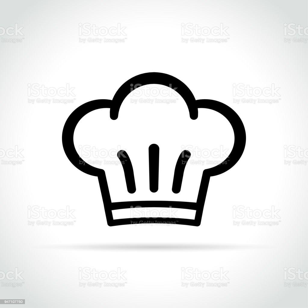 chef hat icon on white background