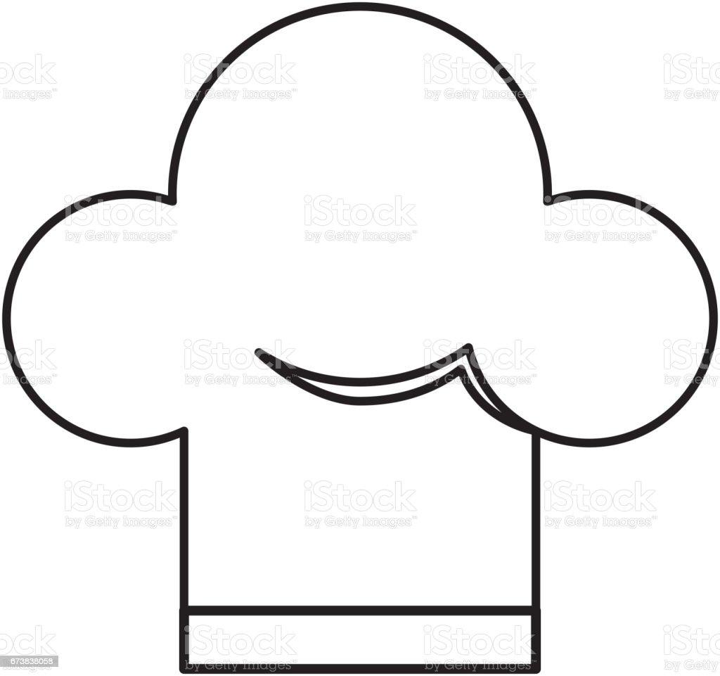 icône isolé de chapeau chef icône isolé de chapeau chef – cliparts vectoriels et plus d'images de a la mode libre de droits