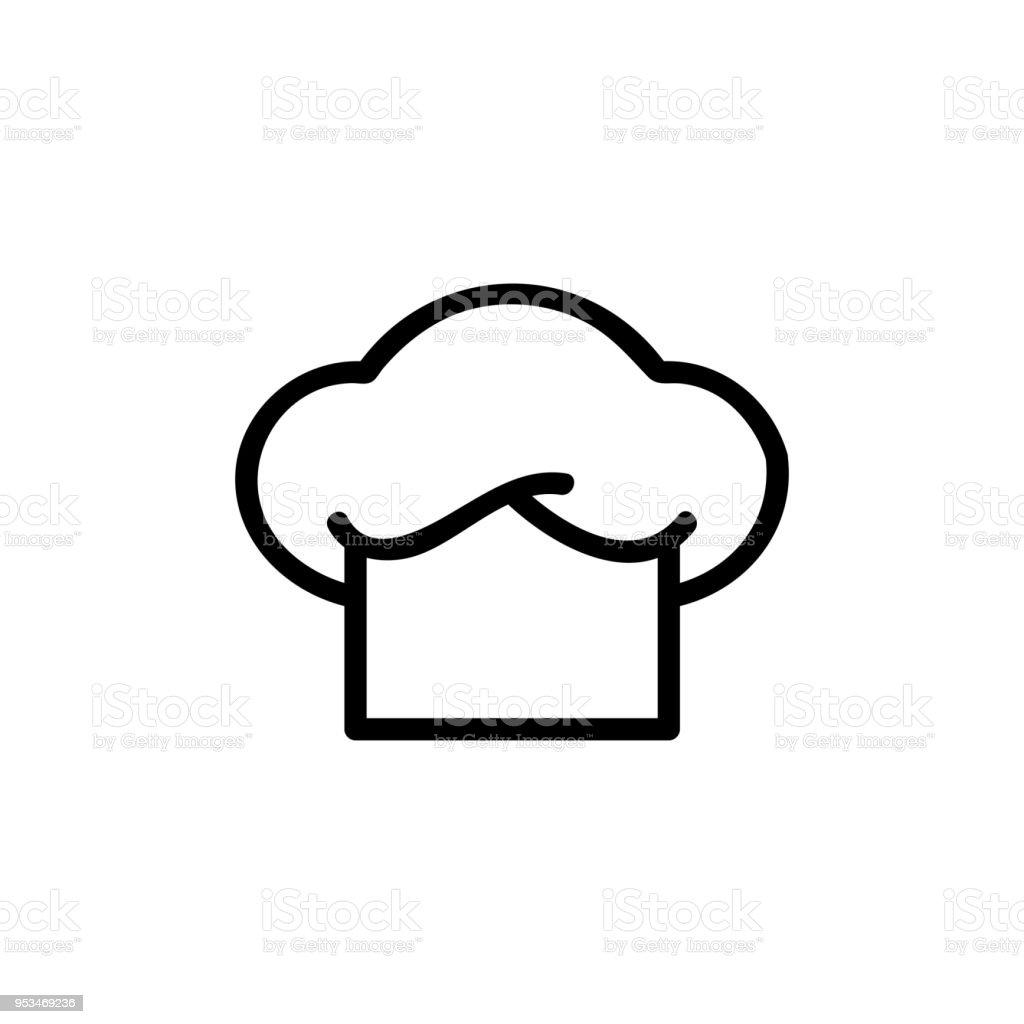 chef hat logo flat icon vector art illustration