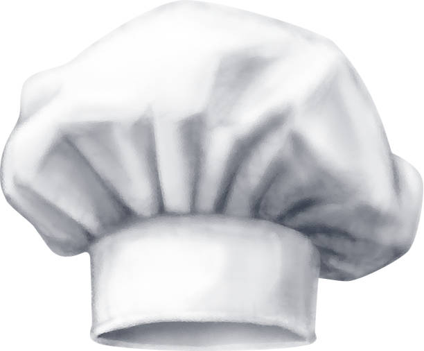 Chef hat. Vector illustration isolated on white background Chef hat. Vector illustration isolated on white background. EPS10. RGB. One global color cooking clipart stock illustrations