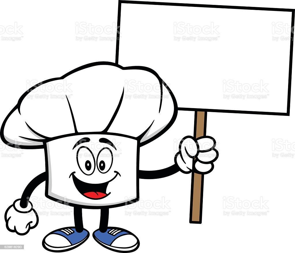 Cappello Chef con un cartello cappello chef con un cartello - immagini  vettoriali stock e altre 377c8ad5245d