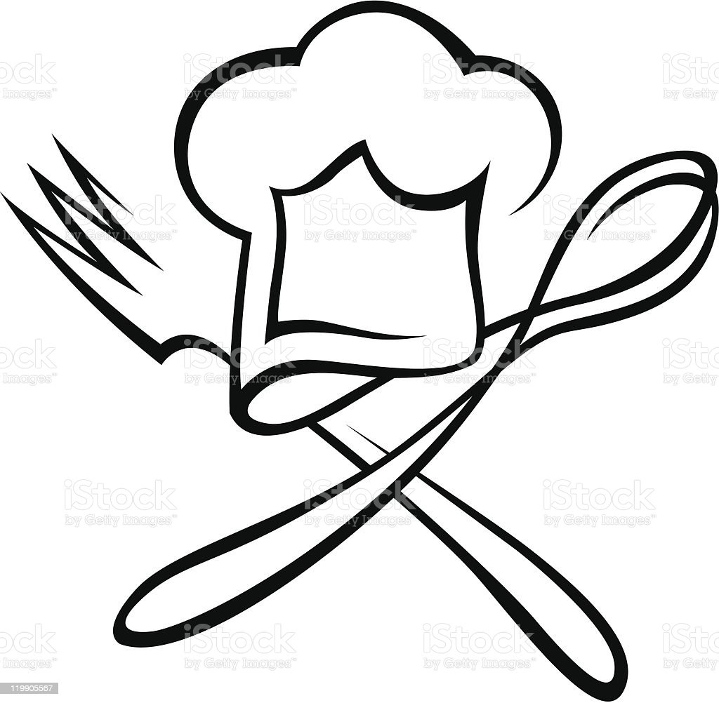 Chef Hat With Spoon An...