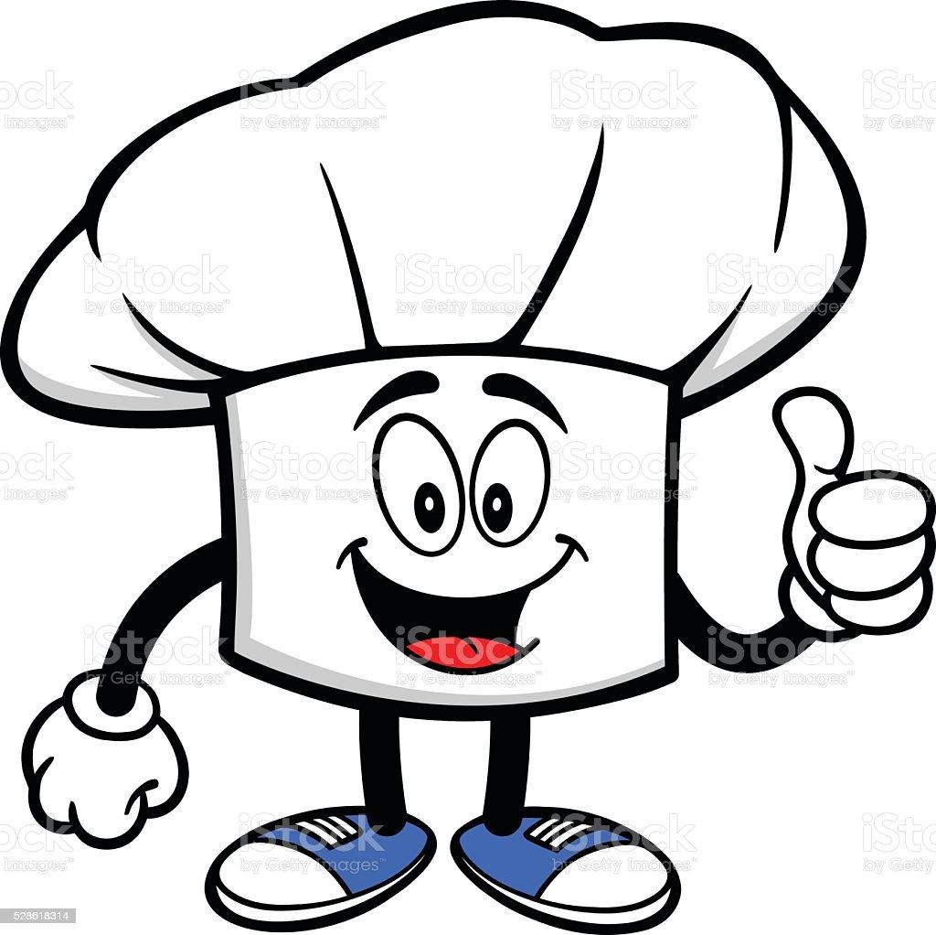 Cappello Chef con pollice su cappello chef con pollice su - immagini  vettoriali stock e altre 7a90fe283427