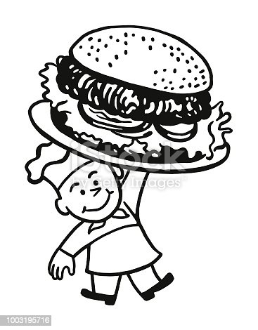 istock Chef Holding a Giant Hamburger 1003195716