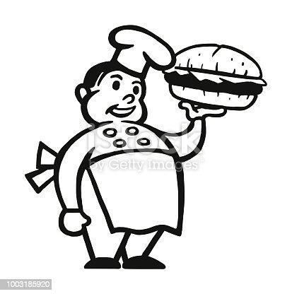 istock Chef Holding a Hamburger 1003185920