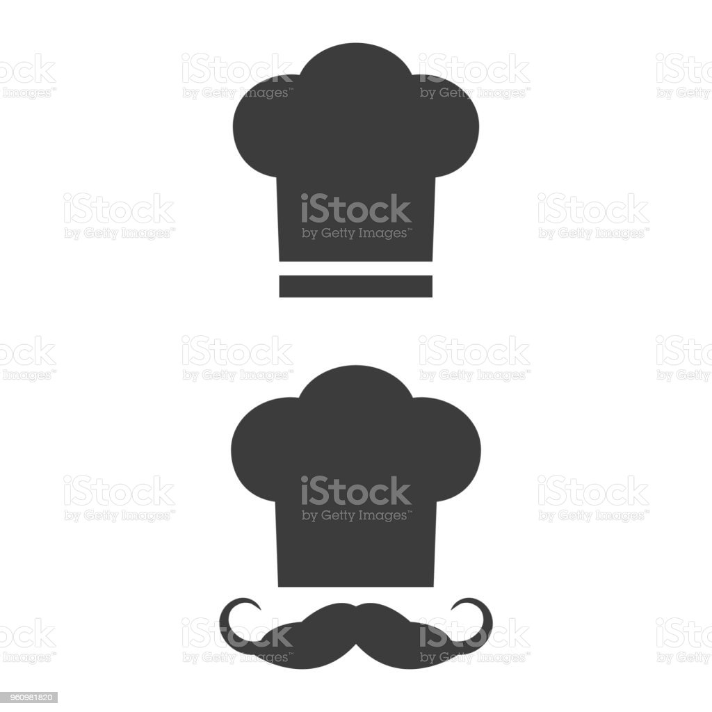 Chef icon on the white background. vector art illustration